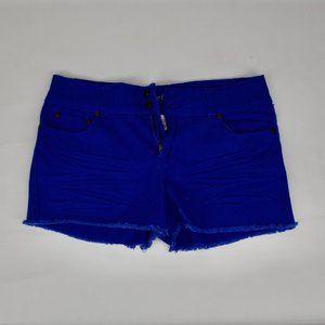 Blue Denim Cutoff Shorts